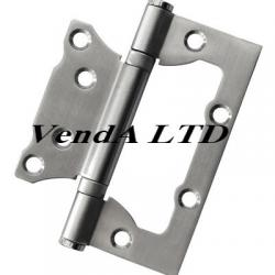 Flush hinge 10 cm stainless steel satin