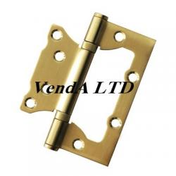 Flush hinge 10 cm stainless steel gold