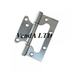 Flush hinge 10 cm stainless steel